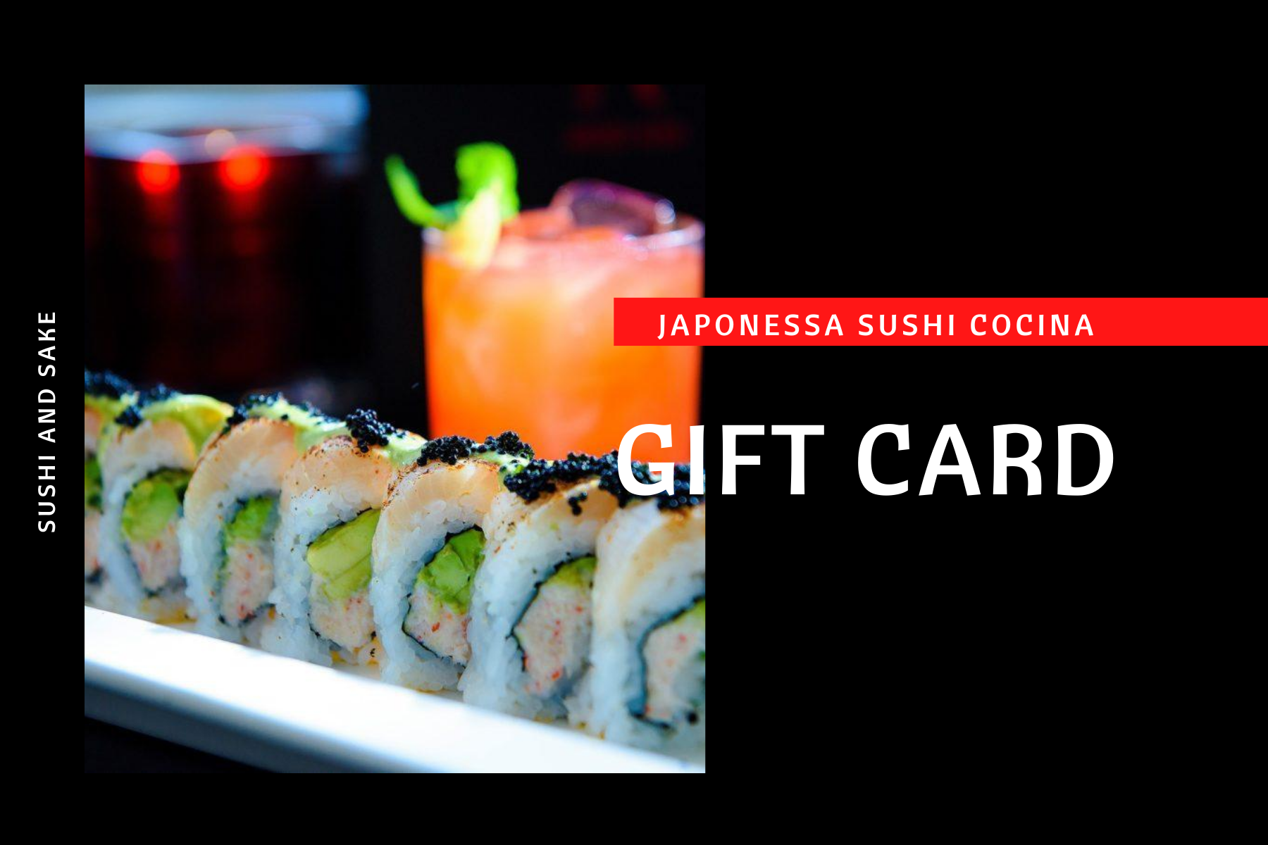 Picture of Japonessa Sushi gift card for purchase online or in store